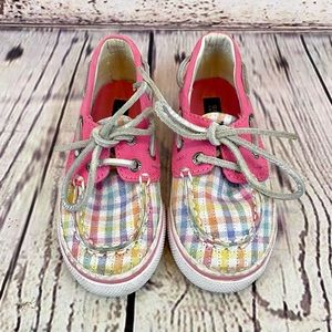 Sperry Bahama Plaid Top-Sider Boat Shoe Sequin